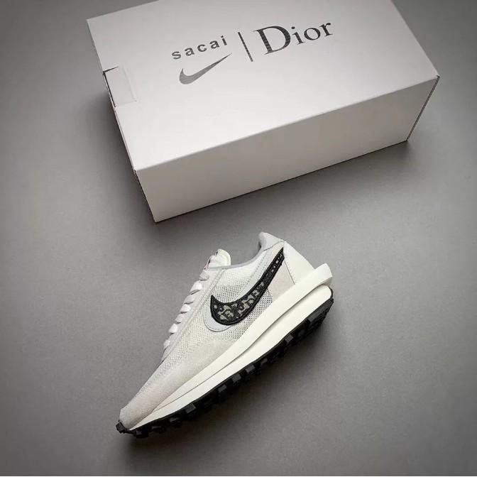正品 Nike x Sacai x Dior 聯名 20新款 獨家首發 白灰 雙溝設計 現貨