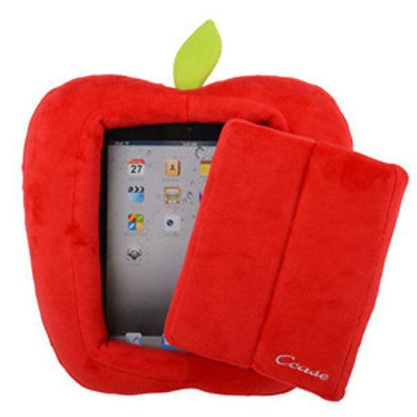 車之嚴選 cars_go 汽車用品【IPAD-1】iPad / Tablet平板電腦專用蘋果造型閱讀抱枕-兩色選擇