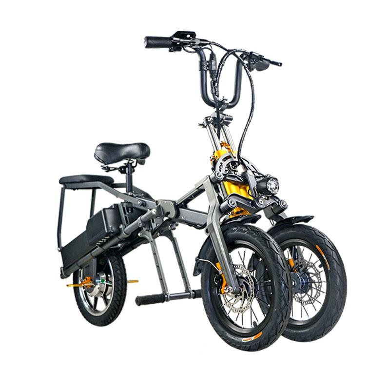 5Cgo【批發】 倒三輪電動代步車新國標折疊式接送小孩便捷親子年輕人學生電瓶自行車