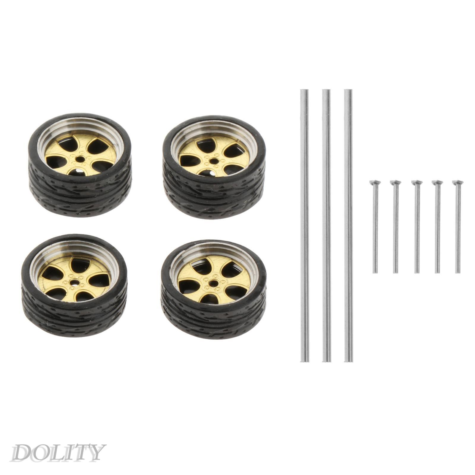 [Dolity] 1: 64 比例壓鑄賽車模型車輪和輪胎套裝配件風格 A