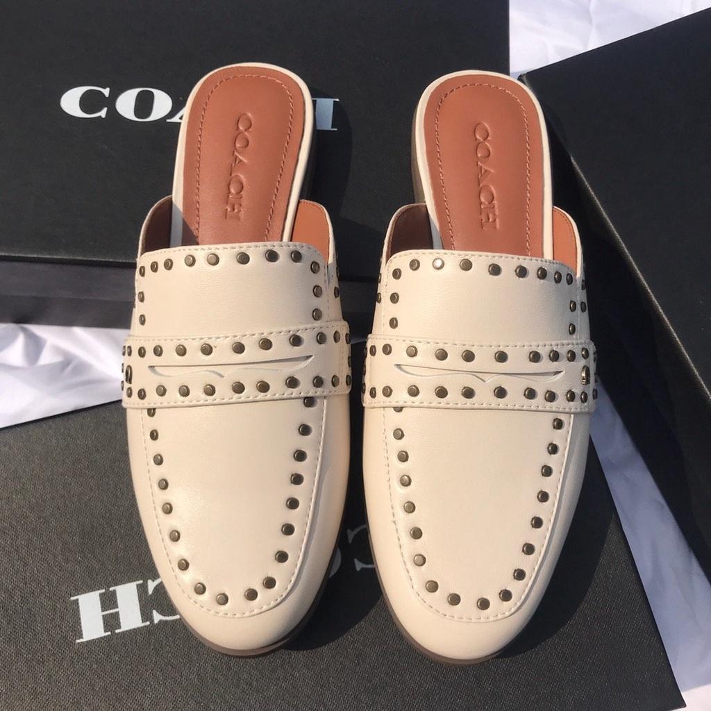 COACH/蔻馳本年最新款柳釘拖鞋