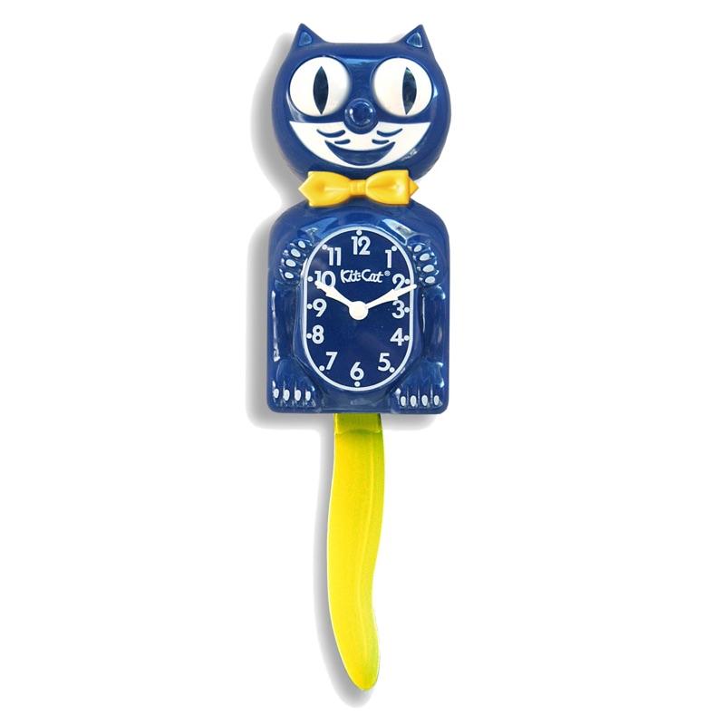 美國 Kit-Cat Klock 貓時鐘 - Blue & Gold 藍金限量版