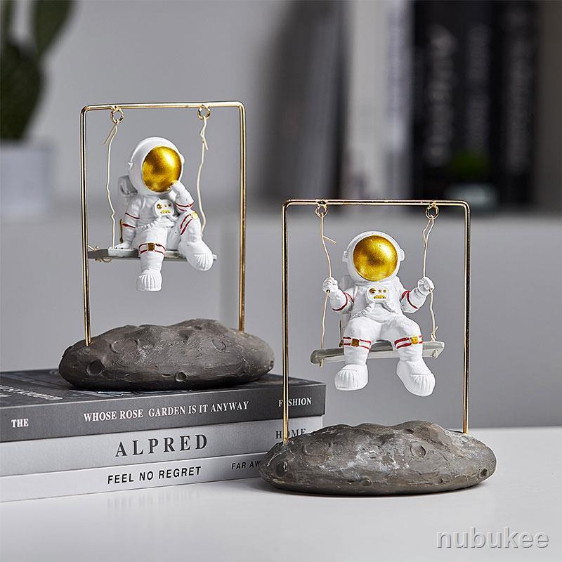 ↂ家居擺飾簡約~ 創意家居裝飾品宇航員擺件辦公桌面太空人小擺飾酒柜客廳房間布置