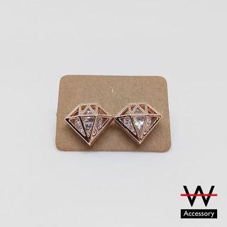 W-Accessory 閃爍水鑽石 * 合金耳環 (三款) [EA0017] #現貨 桃園市
