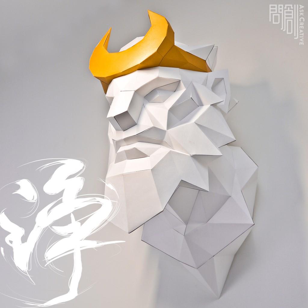 問創設計 DIY手作3D紙模型 禮物 擺飾 神秘 西遊記 奇幻系列 -沙僧壁飾