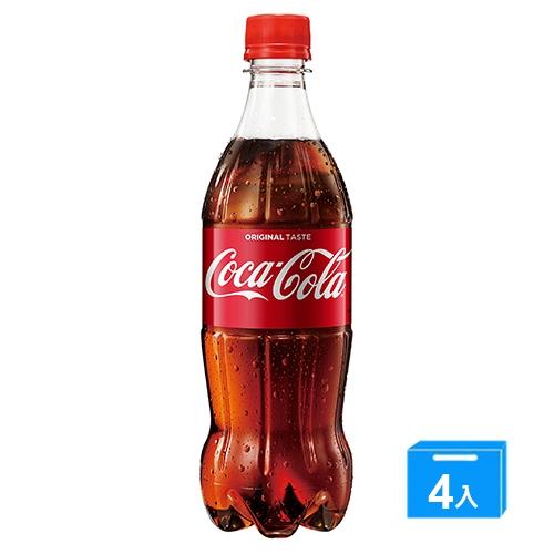 可口可樂寶特瓶600mlx4入【愛買】