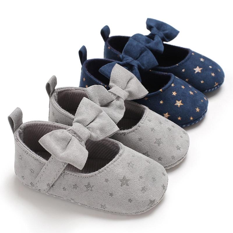 0-1歲女寶寶鞋公主鞋防滑花朵魔術貼嬰兒學步鞋