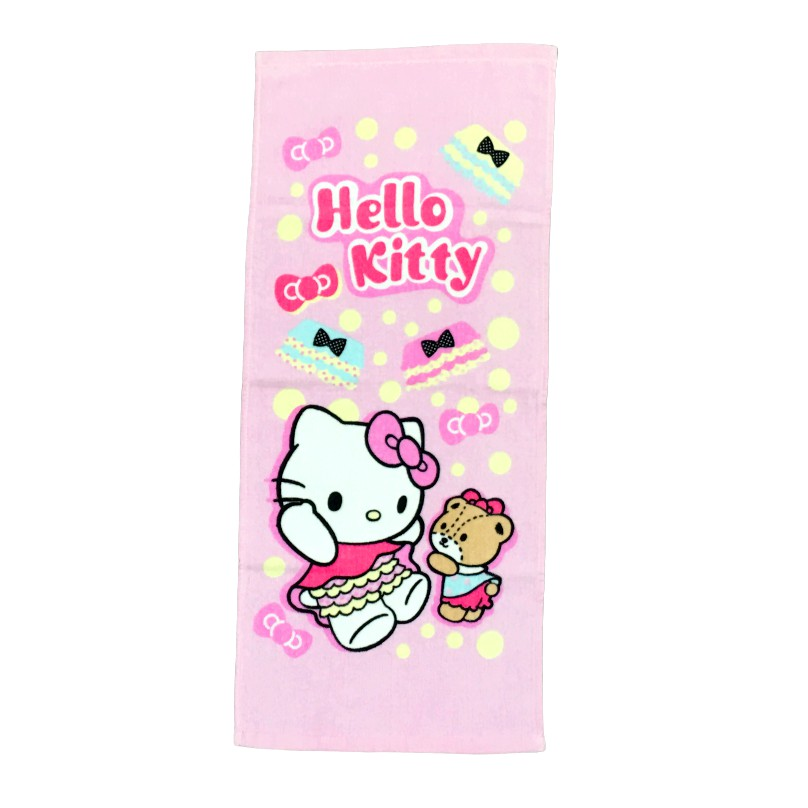 【Sanrio三麗鷗】凱蒂貓Cute屁屁篇毛巾 100%棉 33x76cm