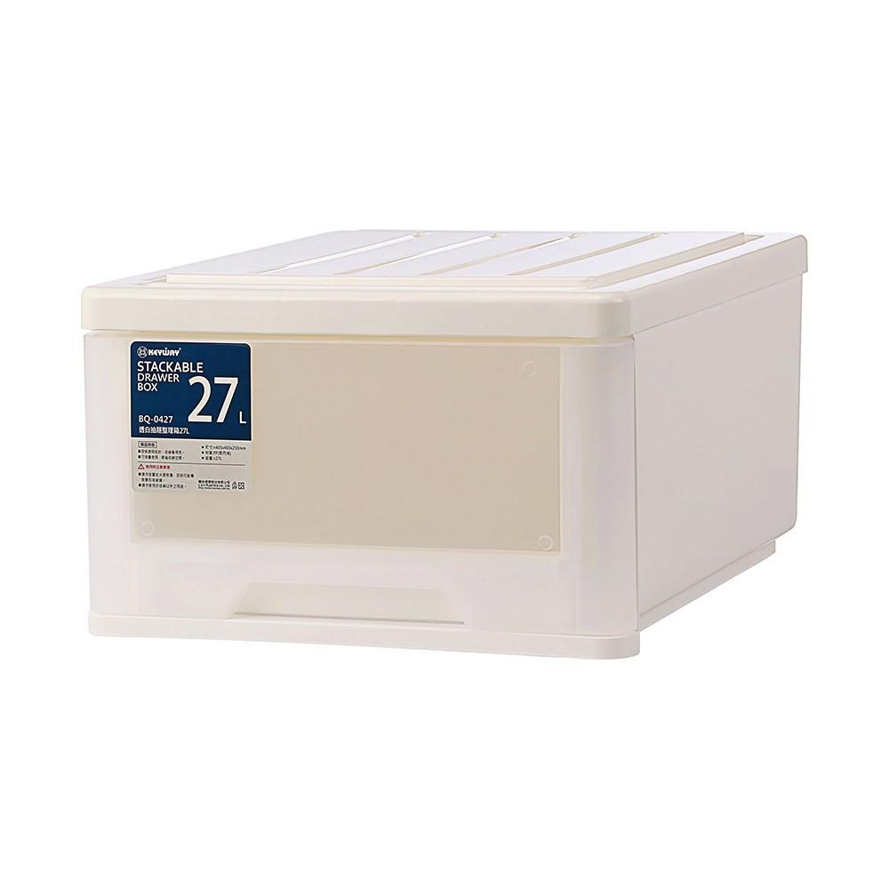 BQ-0427 透白抽屜整理箱27L