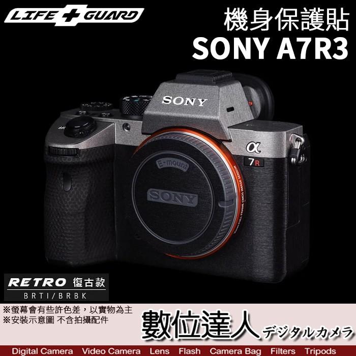 LIFE+GUARD 機身 保護貼 Sony A7III A7R3 BODY[標準款]DIY 包膜 保貼 A7RM3