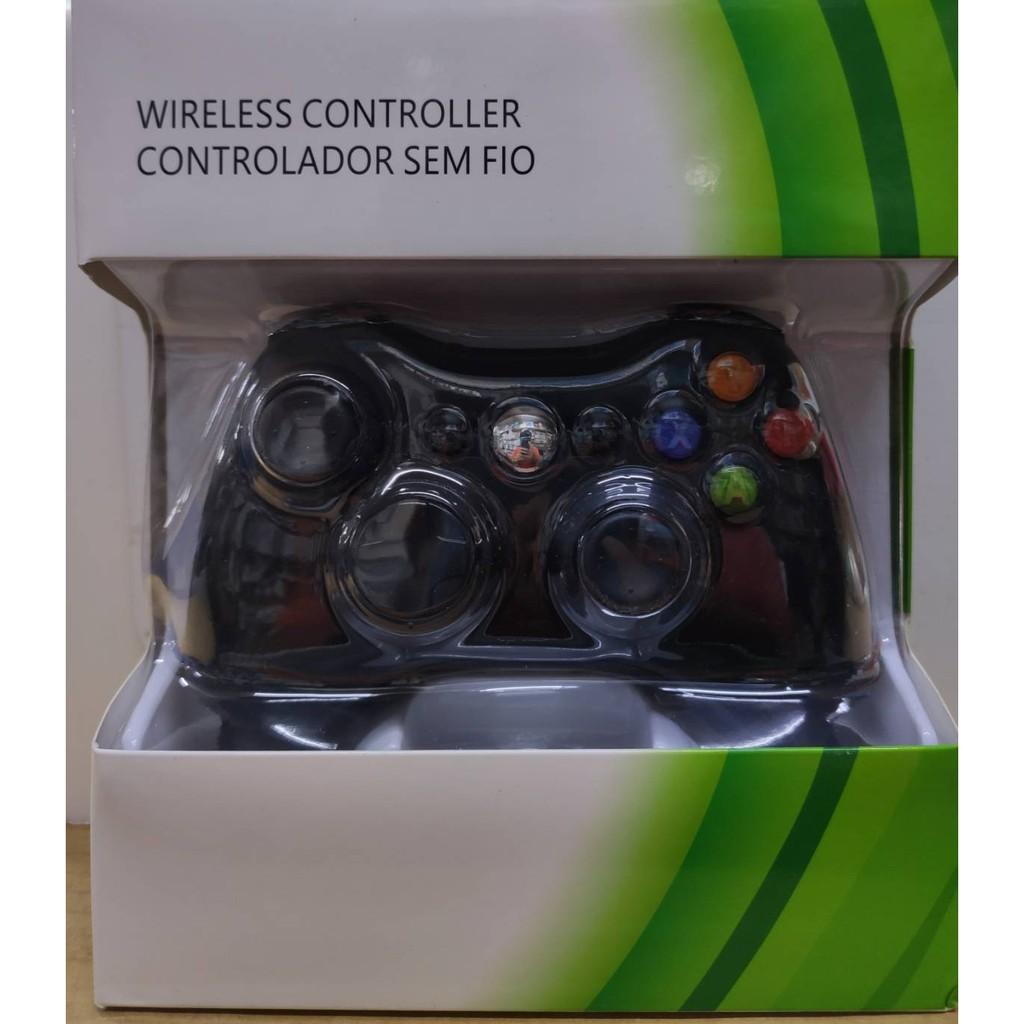 [便宜遊戲館] 超低價!可批發XBOX360用 無線手把控制器原廠芯片IC組裝震動盒裝黑色(副廠)PC需另加購接收器