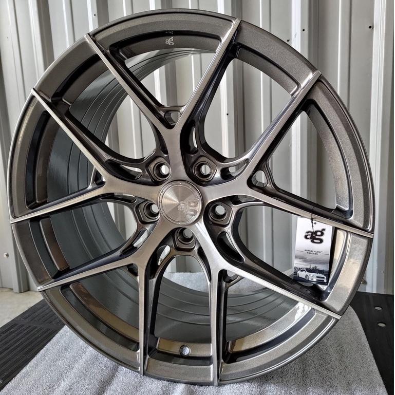 高雄人人輪胎 AG M580R 19吋 旋壓 鋁圈 5孔 112 114.3 120 108 前後配 髮線灰車鈦灰透