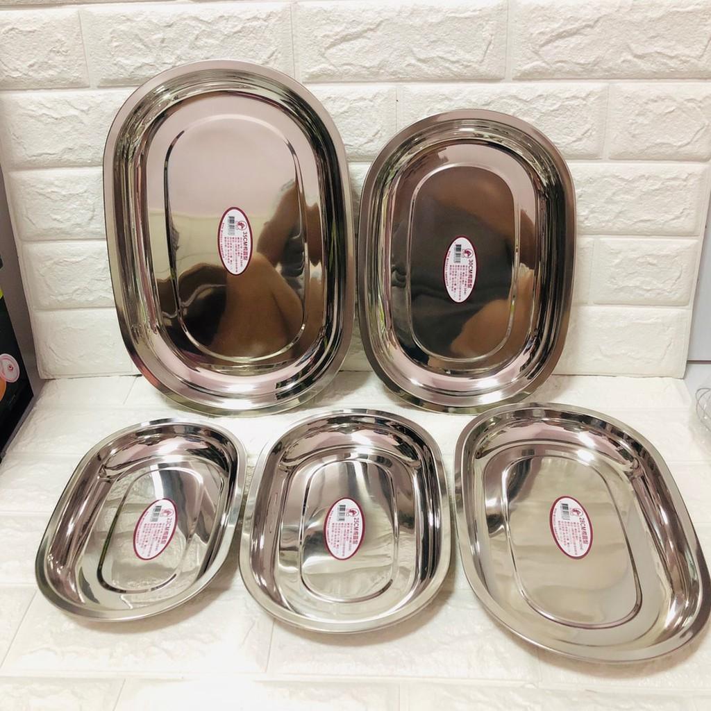 廚神 (現貨) 紅馬304不鏽鋼楕圓盤 魚盤 料理盤 蒸盤 萬用盤 露營盤 烤盤 長盤 橢圓盤 華鈺