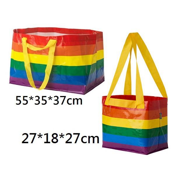IKEA STORSTOMMA 環保購物袋 /彩虹條紋