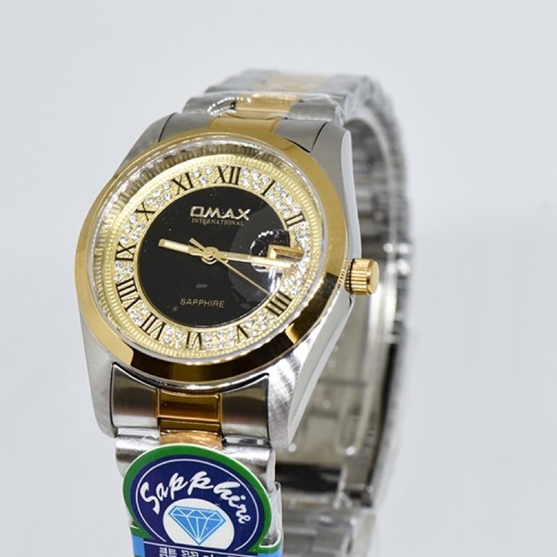 OMAX不鏽鋼防水手錶