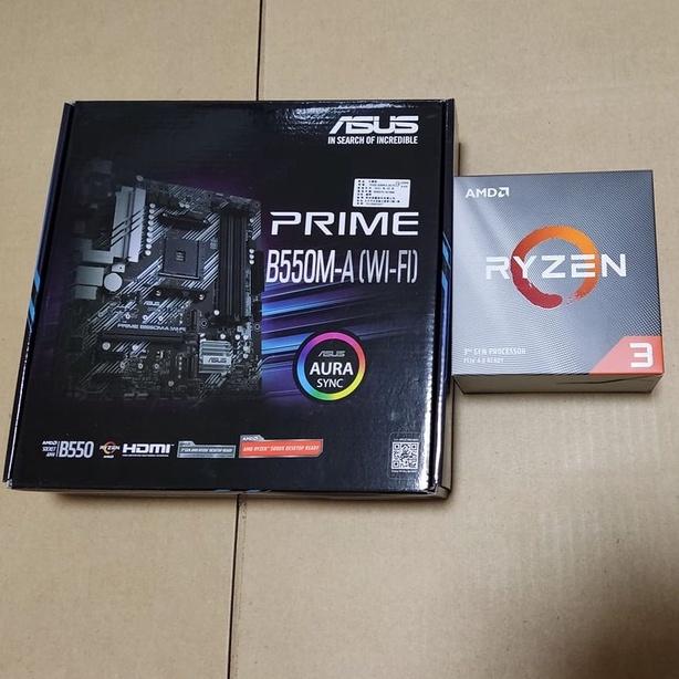 (暫預訂)AMD CPU Ryzen 3 R3 3300X + 華碩 PRIME B550M-A (WIFI) 主機板