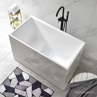【工廠現貨~】小浴缸家用小戶型日式深泡亞克力獨立一體式可移動坐式超迷你方缸 臺北市
