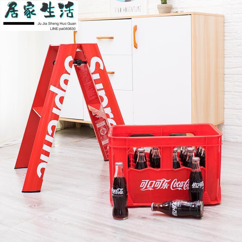 現貨-梯子-現貨supreme梯子同款18fw人字梯子攝影折疊梯鋁合金家用梯潮牌梯
