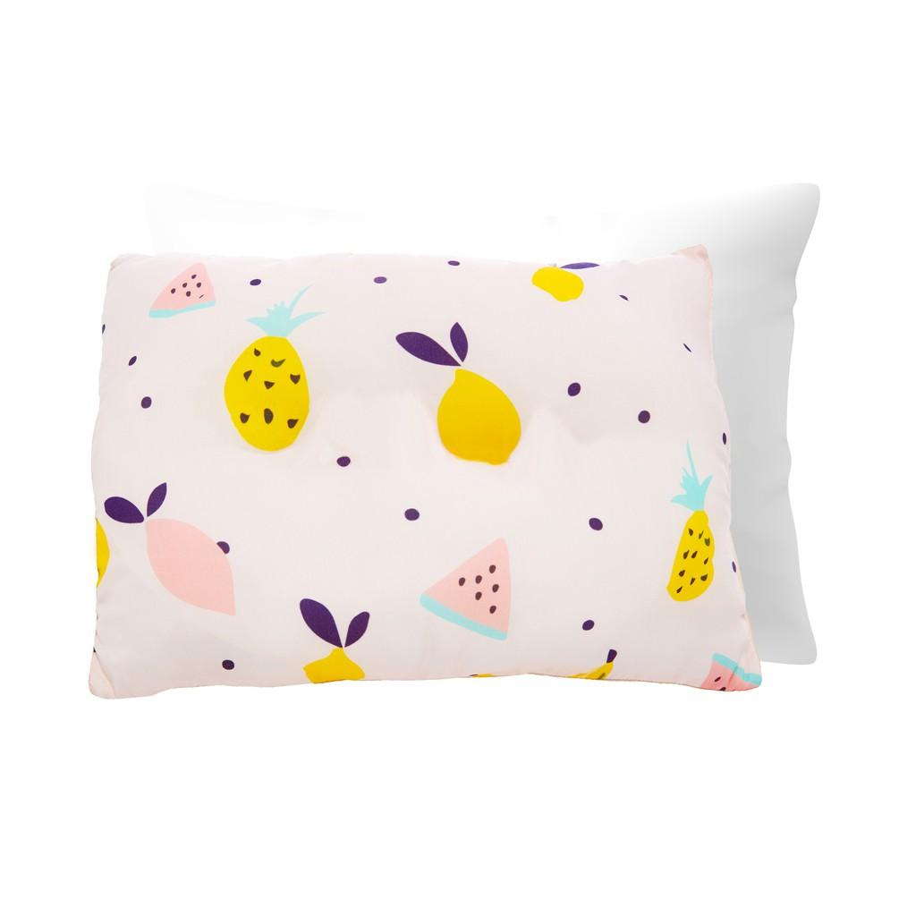 享居DOTDOT 兒童天絲枕頭枕套組(夏日水果)防螨抗菌 天絲表布 60支萊賽爾 舒適支撐(建議1歲以上)