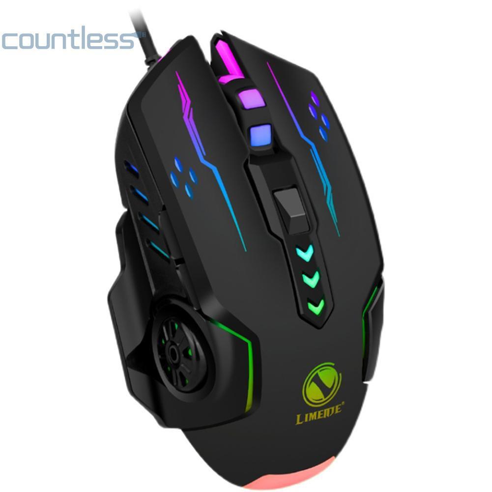 (新品熱銷)新款 力鎂 V7 有線滑鼠 6鍵 3600dpi 七彩發光 遊戲電競遊戲腦滑鼠 USB介面 COU