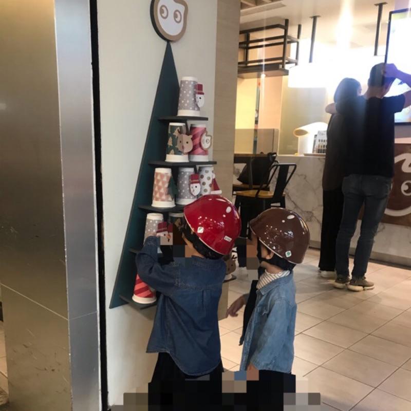 日本Iimo兒童安全帽(棕色 紅色)