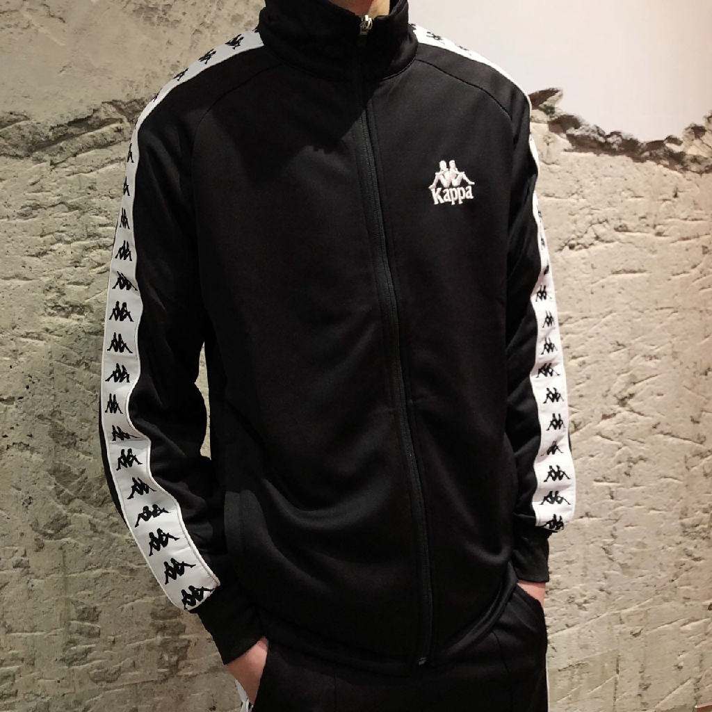 KAPPA 222 BANDA Jacket 夾克 運動外套 運動 套裝 陰陽 串標 黑 白 KAPPA外套