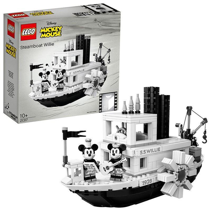 【正品保障】樂高(LEGO)積木 21317米奇米妮汽船威利號汽船