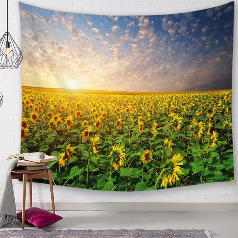 掛毯 Boho Hippie 壁掛 Boho Decor Farmhouse 裝飾向日葵掛毯