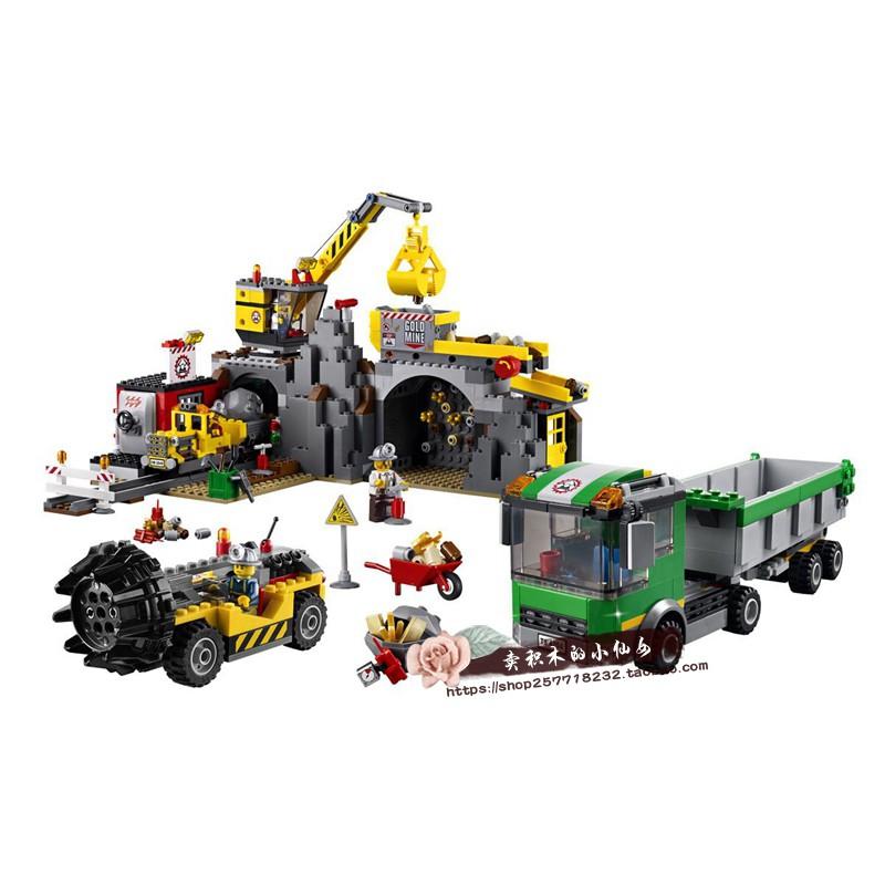 LEGO 樂高 4204 城市 大型采礦場 起重挖掘機運輸卡車翻斗車 積木