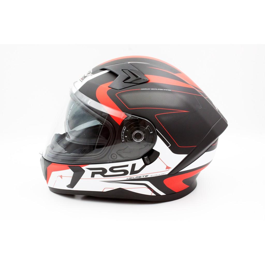 RSV MACAN  消光黑紅 躍步 彩繪 全罩 內置墨鏡 插消鐵扣 安全帽 【 歐樂免運】