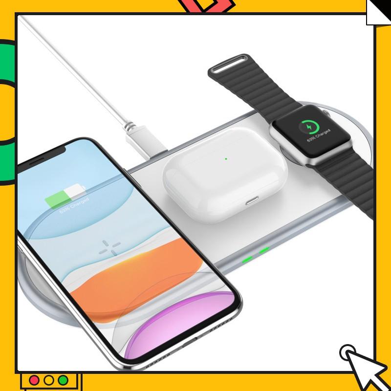 新款 果粉最愛 三合一無線充電座 充電盤 蘋果手機 手錶 耳機 一起充好開心 療癒商品 告別凌亂 解決混亂- Q18