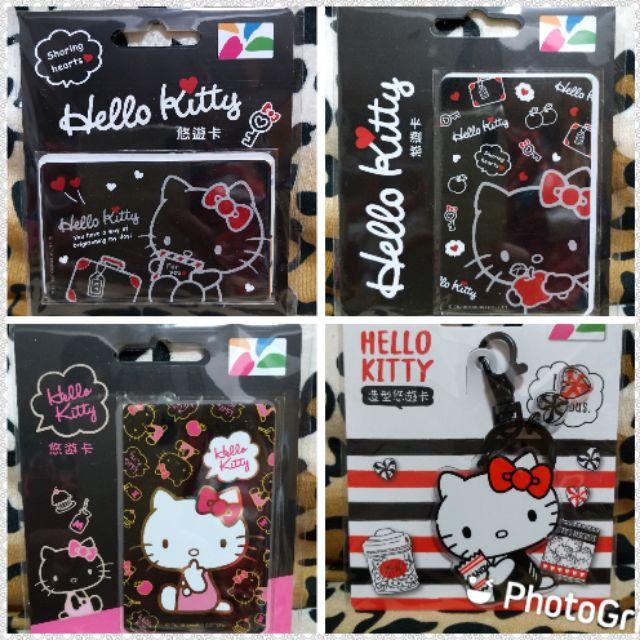 【 現貨 絶版品 】HELLO KITTY 黑系悠遊卡  FOR YOU  APPLE  粉嫩金  美式簡約造型悠遊卡