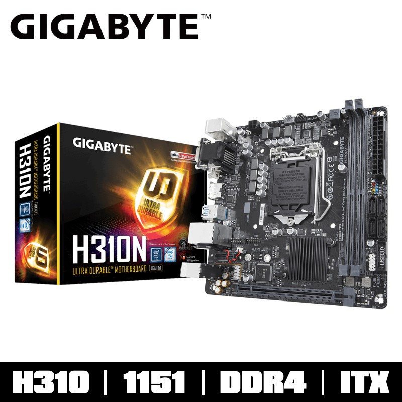 技嘉 H310N 2.0 主機板 ITX INTEL 1151 支援 M.2 DDR4 註冊四年 H310 晶片
