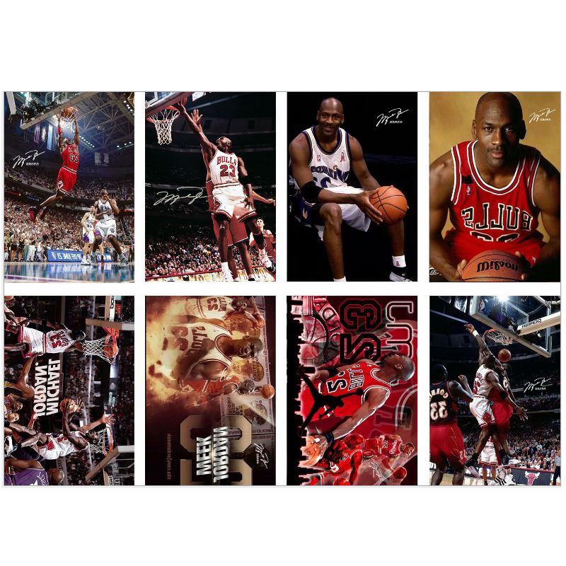 復古風格 Nba 籃球運動員 Michael Jordan 芝加哥公牛復古工藝紙海報裝飾牆貼 1 件