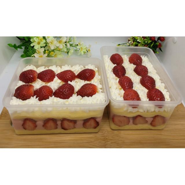 草莓慕斯蛋糕寶盒   輕鬆吃