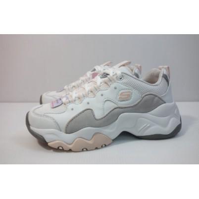 日本直購 正品 SKECHERS DLITE 3.0 白灰粉 12955WGPK 女生 休閒鞋 老爹鞋