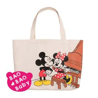 🍓BAOBAOBABY🍓日本迪士尼米奇米妮鋼琴提袋 托特包 手提包 帆布包 購物袋  帆布袋 Disney午餐包 臺中市