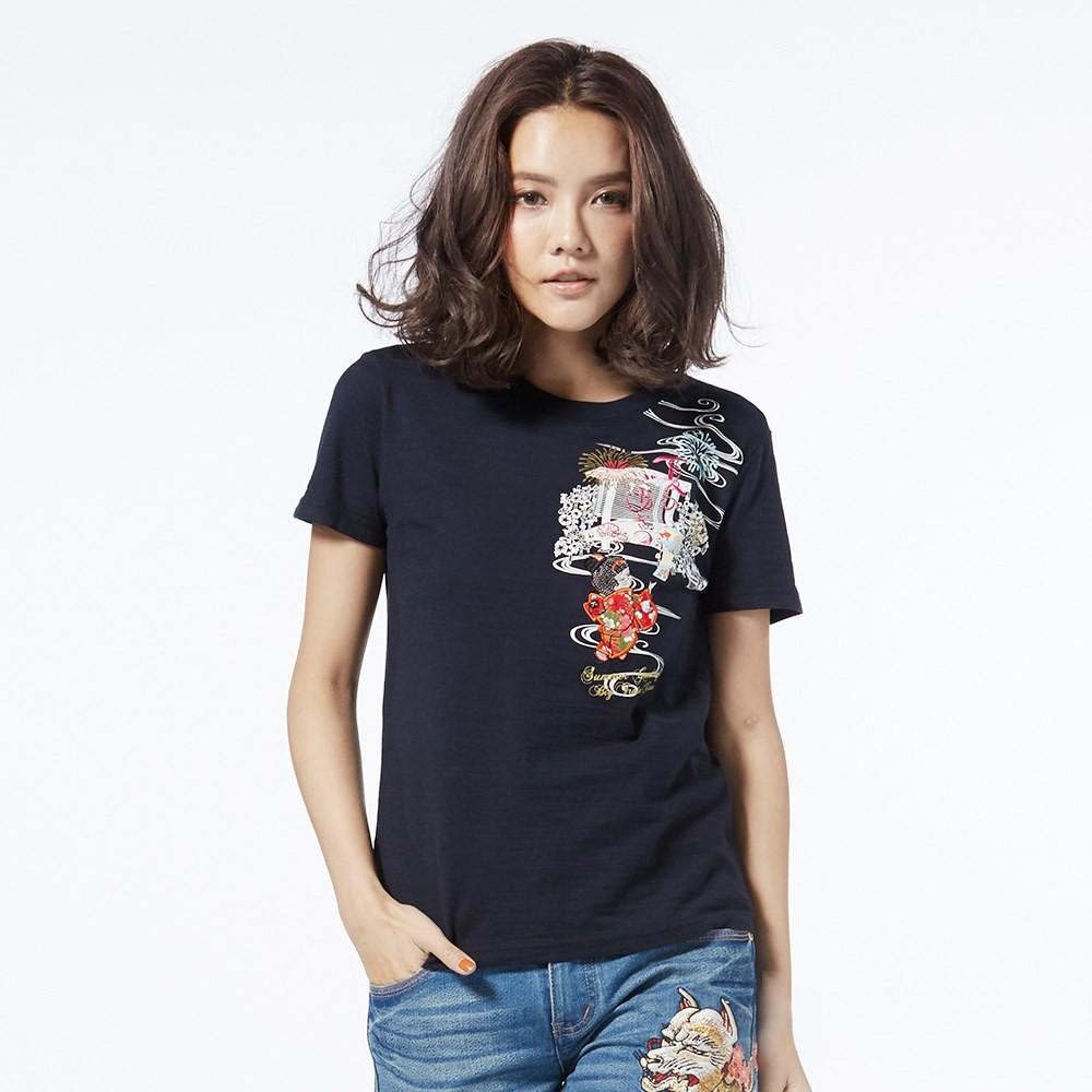 BIG TRAIN 墨達人 夏日娃娃圓領T恤 女款 貨號:B85266-58