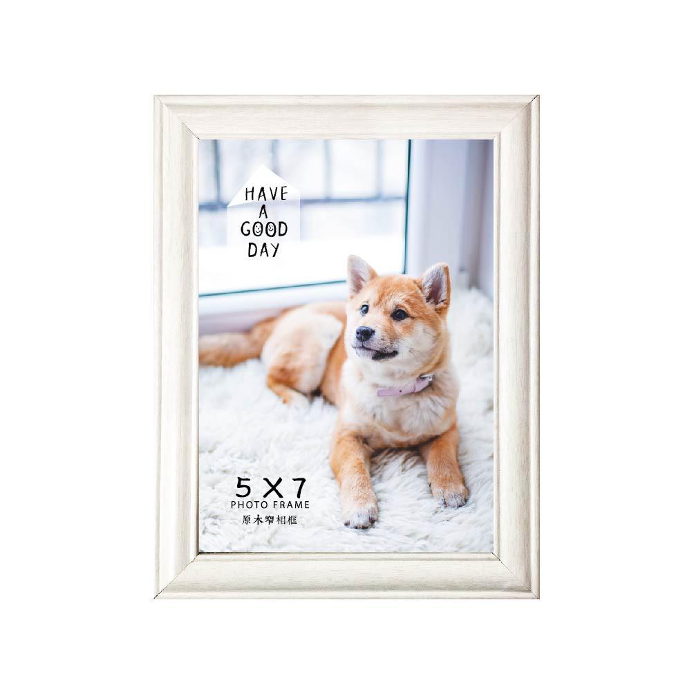 青青 5X7原味木製窄相框-簡單生活/PA-444