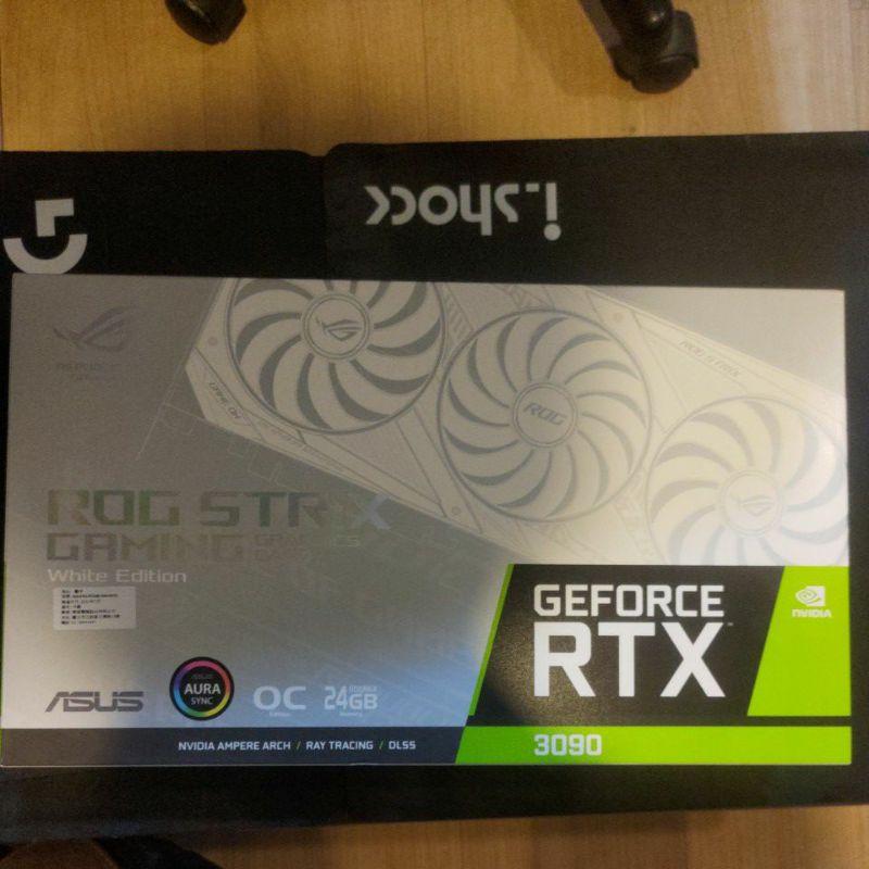 全新 ASUS ROG strix RTX 3090 white O24G 白色限量版