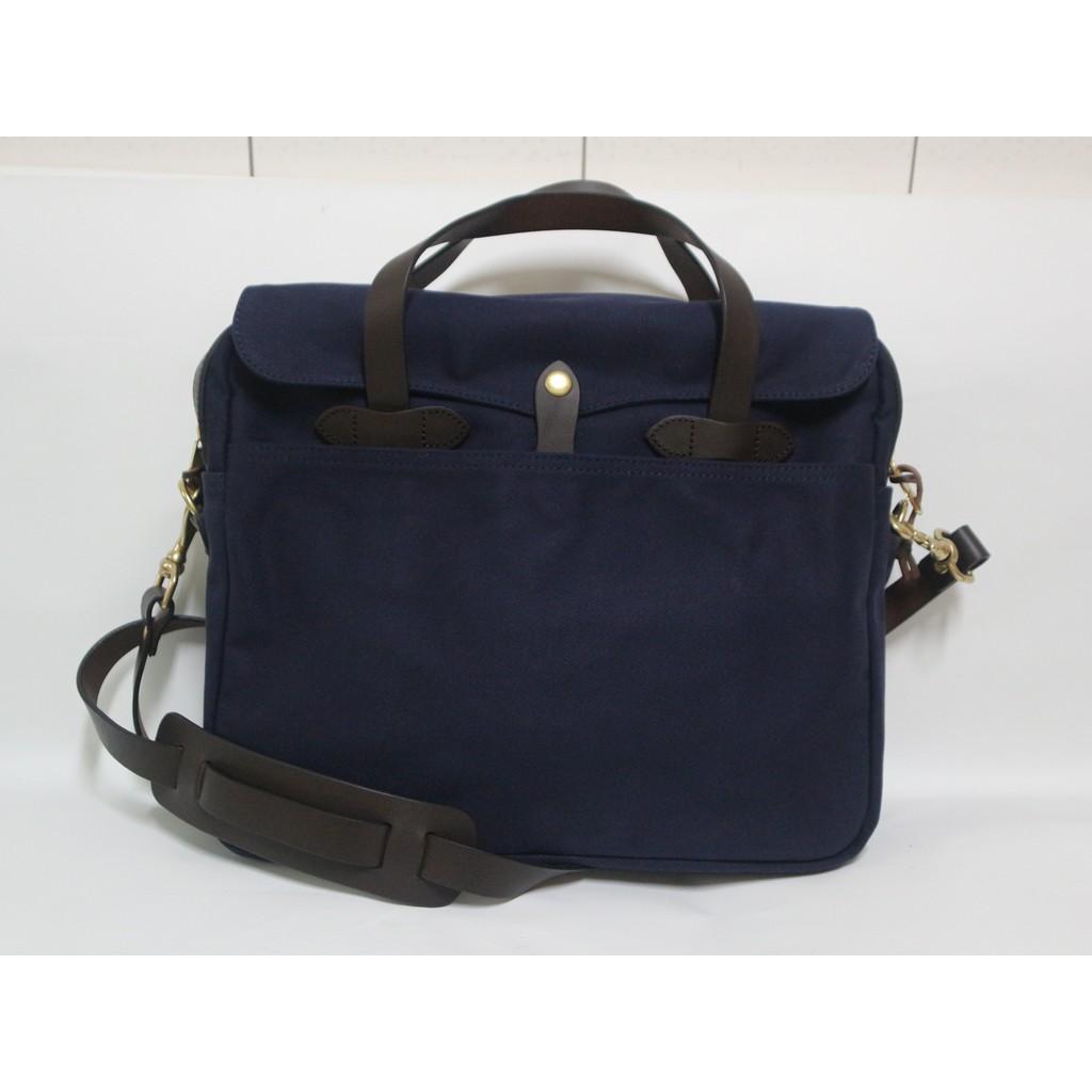 【G.Vintage】複刻 FILSON 256 深藍色重磅帆布/公事包/ 側背包/ 筆電包(首賣特價現貨含運)