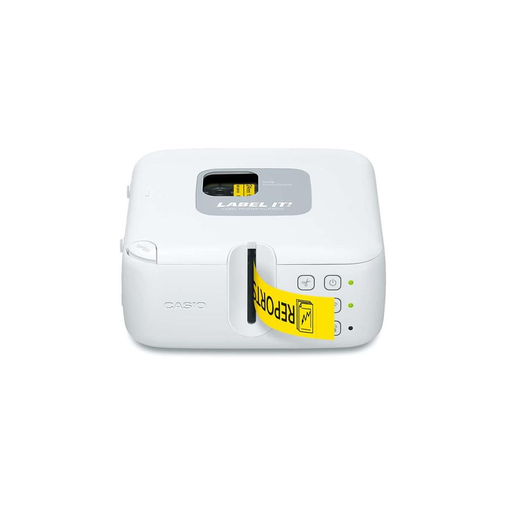 【CASIO】卡西歐 專業輕巧型可攜式印字標籤機 (KL-P350W禮合組)+試用色帶XR-12YW1