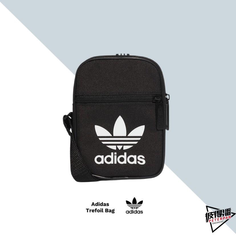 ADIDAS ORIGINALS TREFOIL BAG 側背包 側背 小包 黑白 / 粉紅 DV2405【彼得潘】