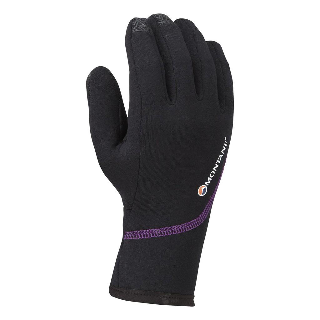 Montane 英國 女款 Power Stretch Pro 彈性排汗保暖手套 可觸控 黑 GFPSP 綠野山房