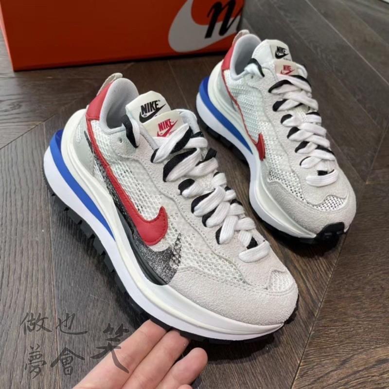 ⚠️歡迎分期驗貨安全⚠️Sacai X Nike VaporWaffle 解構 黑紅藍 男鞋 女鞋 休閒鞋 情侶鞋