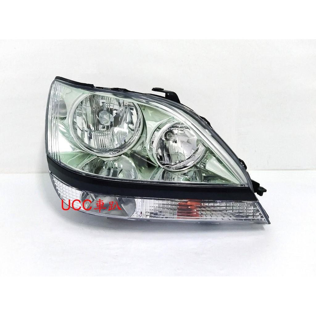 【UCC車趴】LEXUS 凌志 RX300 99 00 01 02 原廠型 晶鑽大燈(附燈泡) TYC製 一顆3800