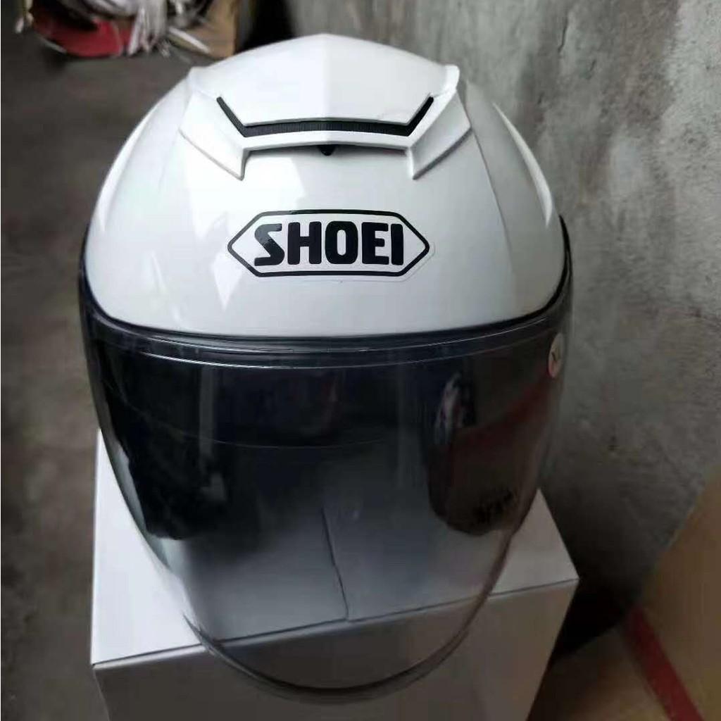 SHOEI X14 亮白 雙鏡片半盔 亮白色 男女四季通用安全帽 半罩安全帽