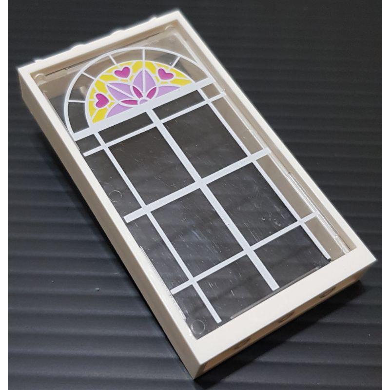 樂高 60596+57895 41314 白色 框 透明 印刷 玻璃 窗 窗戶 建築 配件