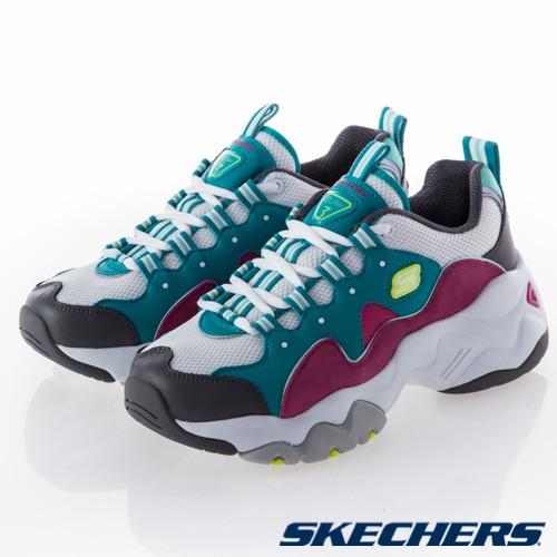 SKECHERS DLITES 3.0 女鞋 休閒 運動 百搭 輕量 老爹鞋 增高 白綠紫 12955TQPK