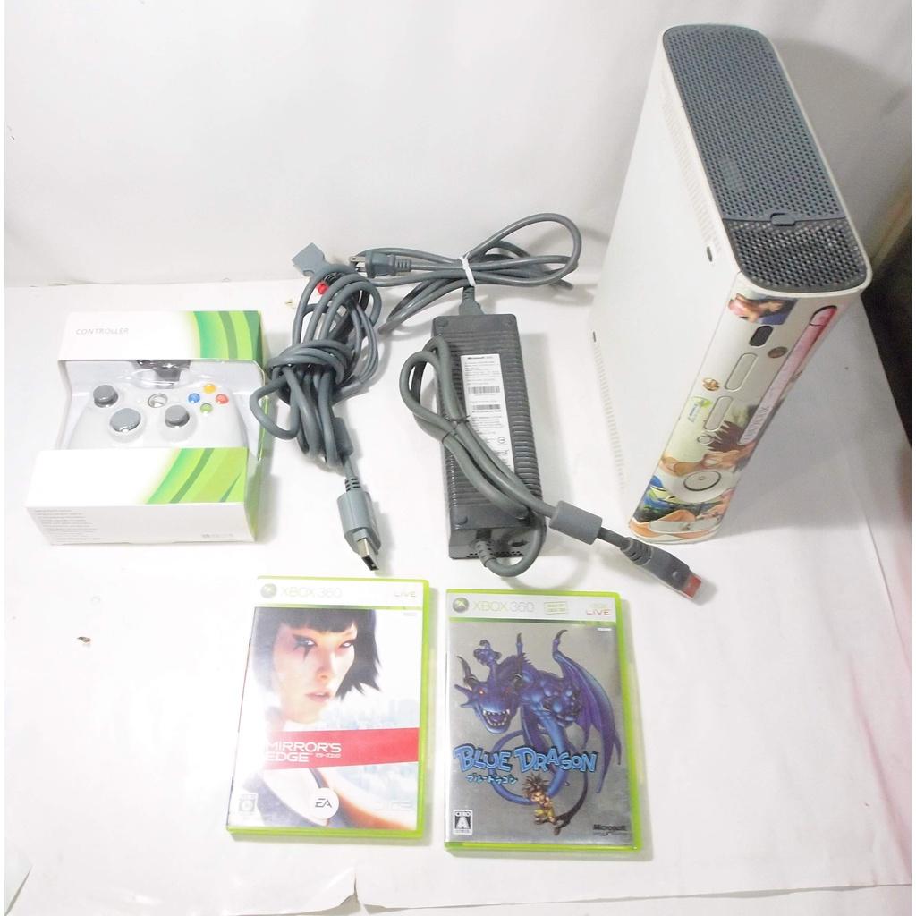 XBOX360 厚機主機套件+原版遊戲片2片/無改機,無HDMI接口/系統版本8507,可改機